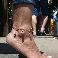 Copper Gemstone Anklet