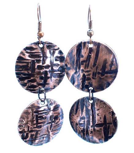 Copper Coin Earrings (Double Style 3)