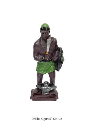"""Orisha Ogun 5"""" Statue"""