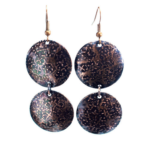 Copper Coin Earrings (Double Style 2)