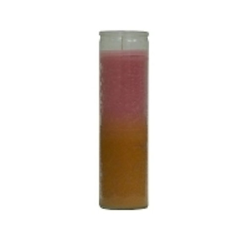 Pink and Gold 7 Day Candle