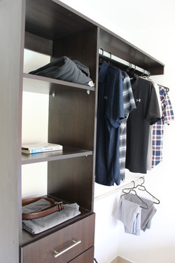 Lots of clothing storage
