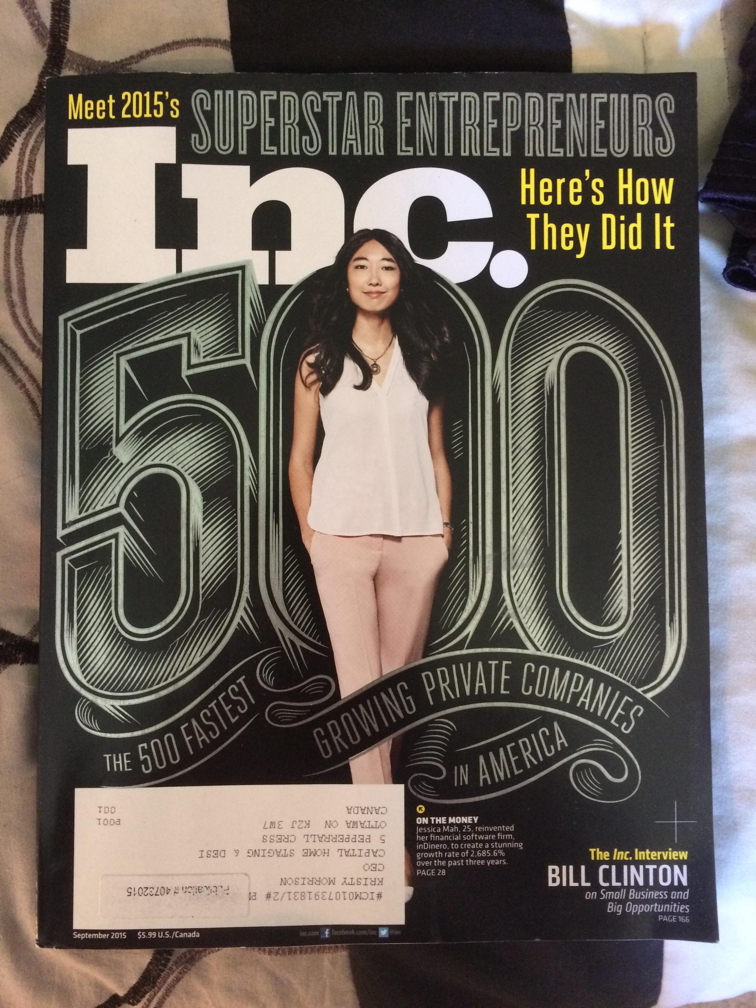 Inc 500 Magazine
