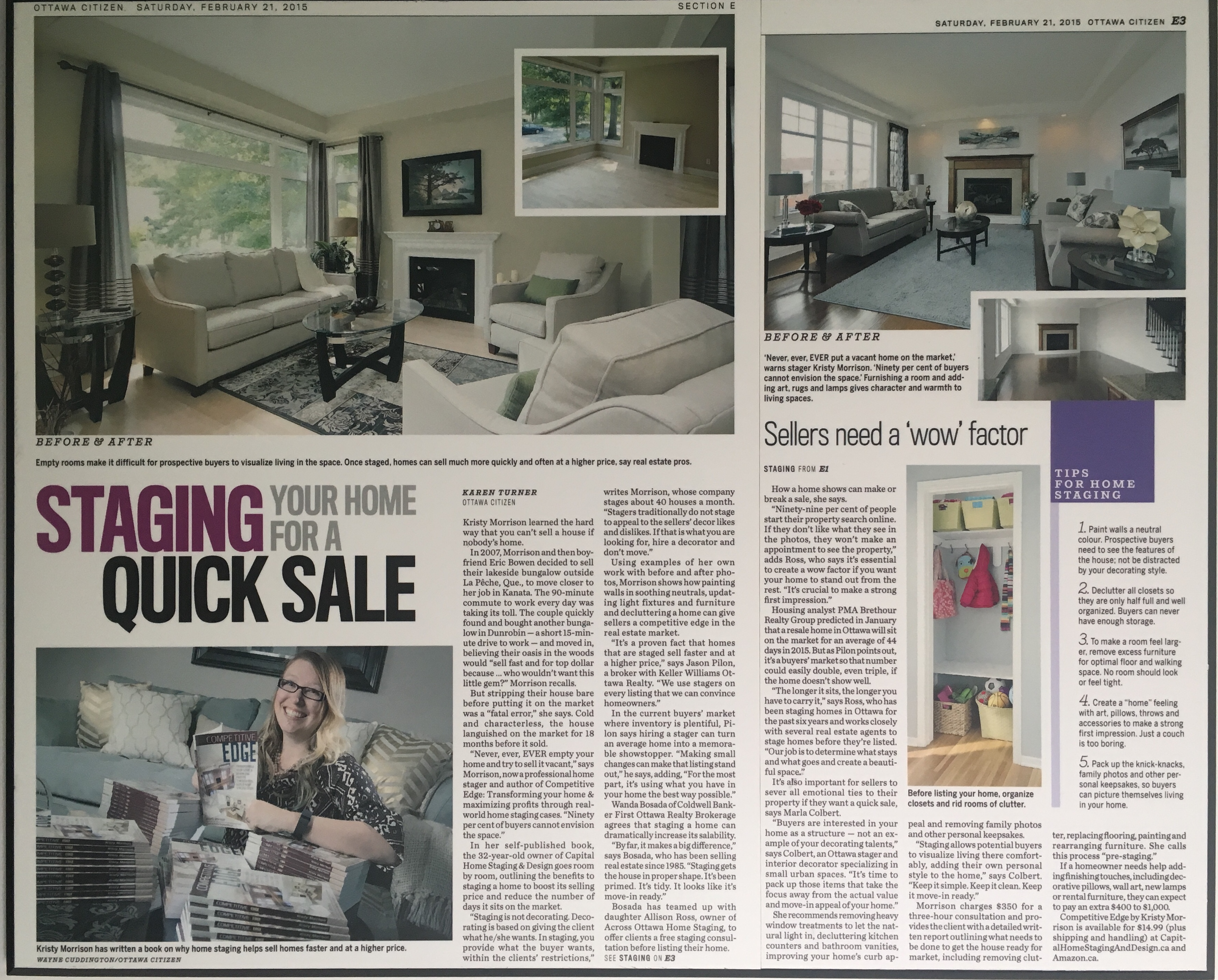 Featured in Ottawa Citizen