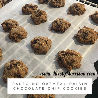 Paleo No Oatmeal Raisin & Chocolate Chip Cookies