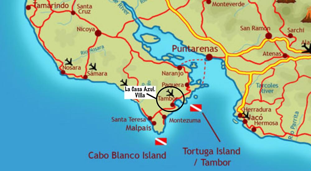 Costa Rica Scuba / Snorkel Sites