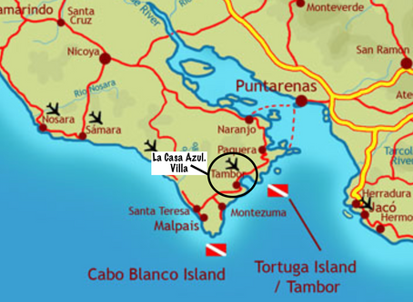 Exciting Scuba / Snorkle​​ Location in Costa Rica -Tortuga Island.
