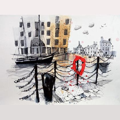 The Albert Dock&Tate, Original Painting