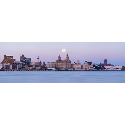 Liverpool Moonrise - Also available on Aluminium