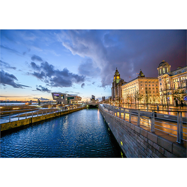 pier head at sunset