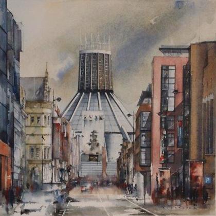Catholic Cathedral Hope Street, Original Painting