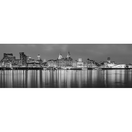 Liverpool Reflections B&W - Also available on Aluminium