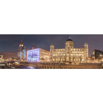 The Pier Head By Night - Also available on Aluminium
