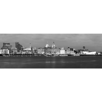 Liverpool At Night - Also available on Aluminium