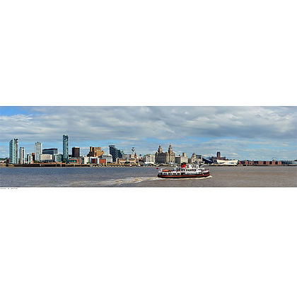 Liverpool Waterfront with a Ferry