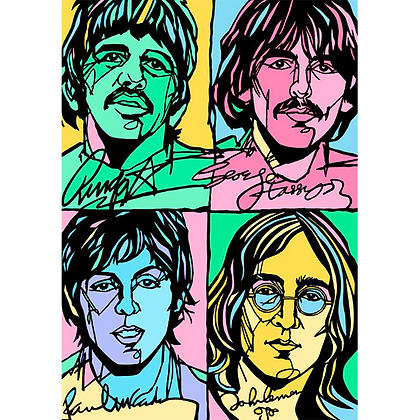 The Beatles Print - the hippy years