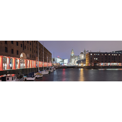 The Albert Dock By Night - Also available on Aluminium