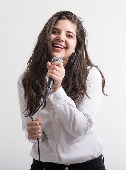 Singer shure sm-58 white shirt