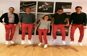 Protobrand Employees Sporting Their Iconic Red Pants