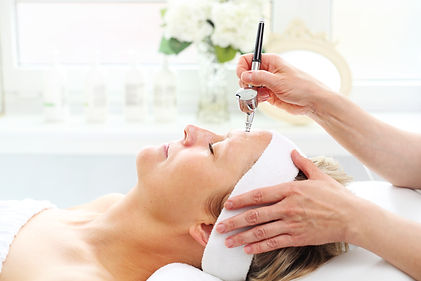 Cleansing water peeling, face skin care.