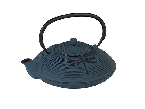 CWE090 Cast Iron Tea Pot Dragonfly 0.8 ltrs