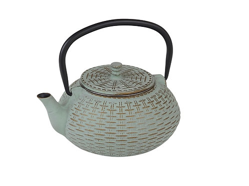 CWE080 Cast Iron Tea Pot Bamboo 0.8 ltrs