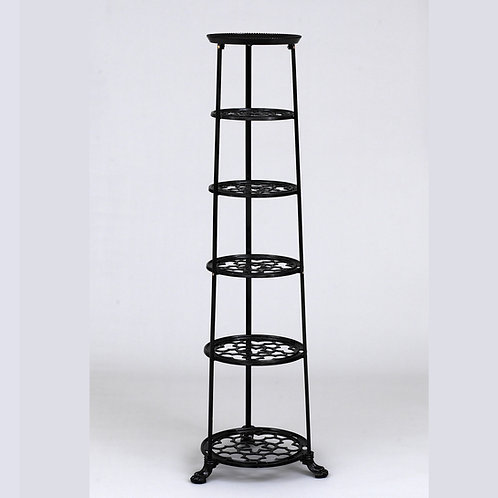 D1620F 6 Tier Pan Stand Black