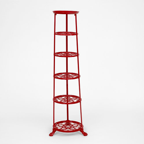 D1620RF 6 Tier Pan Stand Red