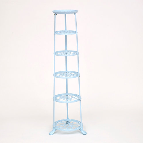 D1620PBF 6 Tier Pan Stand Pale Blue