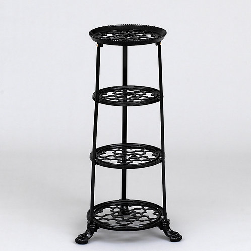 D1630F 4 Tier Pan Stand Black