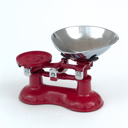 VCW220RC Cast Iron Scales Red with Chromed Brass fittings