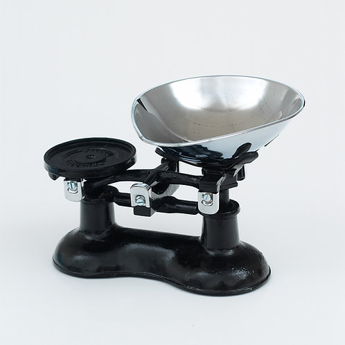 VCW220C Cast Iron Scales Black with Chromed Brass fittings