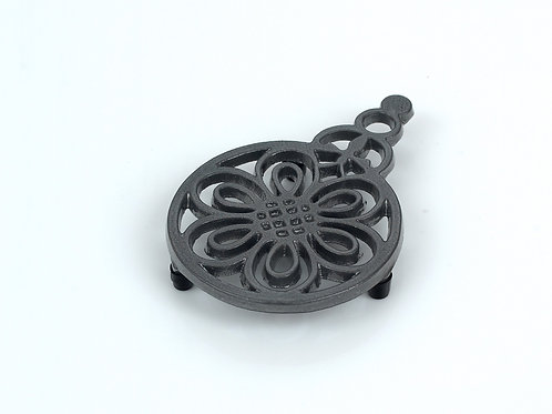 RW101GRE Flower & Bee Trivet Graphite