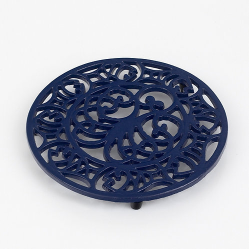 RW107BL Octopus & Fish Trivet Blue