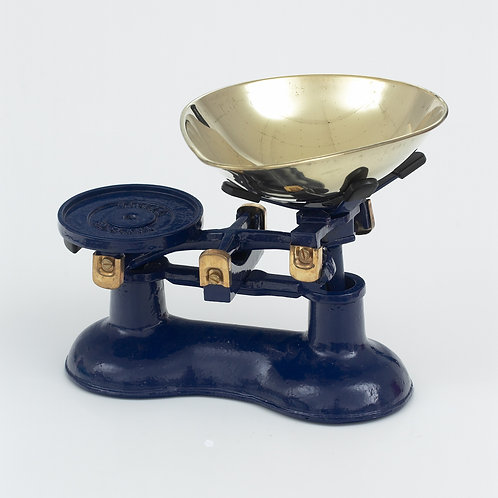 VCW220BL Cast Iron Scales Blue with Brass fittings