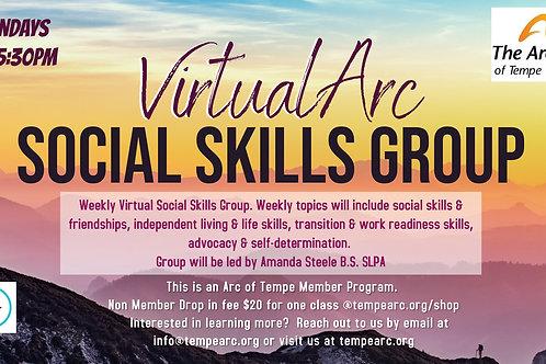 Social Skills Group- Monday's @5:30PM