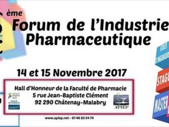 Le Master MA&EME sera présent au 32ème Forum de l'industrie pharmaceutique organisé par l'APIEP PXI.