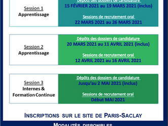 [INSCRIPTIONS 2021-2022] Dates