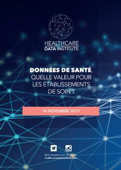 Rapport du Healthcare Data Institute