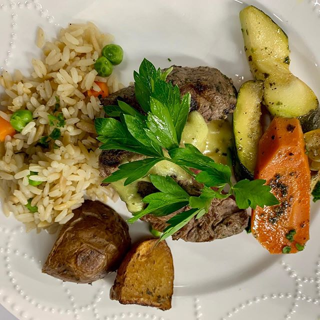 Filet Mignon dinner plate