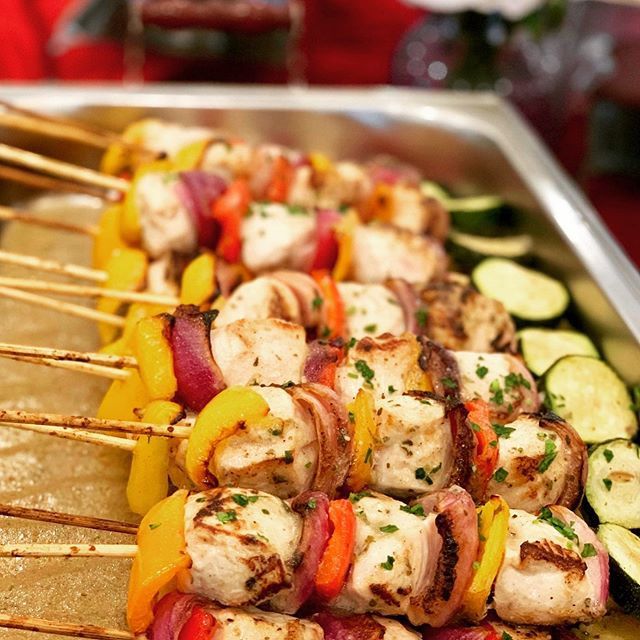 Chicken vegetable kabobs