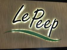 Le Peep Backlit Channel Letters