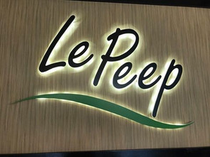Le Peep Backlit Channel Letters