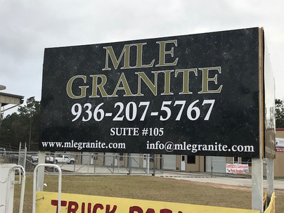 MLE Granite Sign