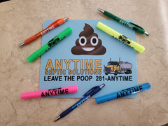 Mouse Pads, pens, highlighters for Anytime Septic