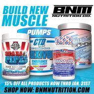 Product flyer for BNM Nutrition