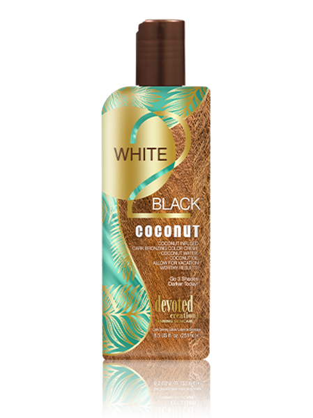 White 2 Black Coconut Tanning Lotions Devoted Creations