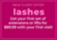 Lash Extension Lash Lift Intro offer Tiki Image