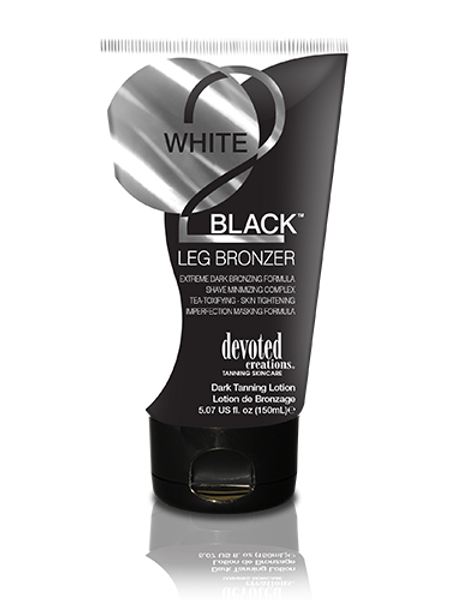 white 2 black leg bronzer tanning lotion devoted creations