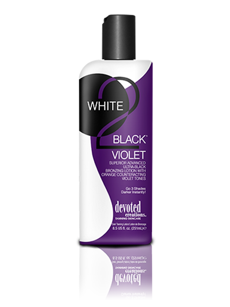 white 2 black violet tanning lotion devoted creations